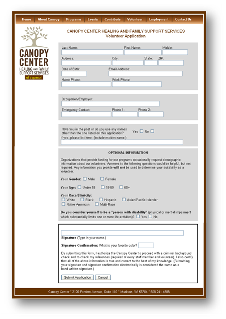 Picture of Canopy Center on-line job application